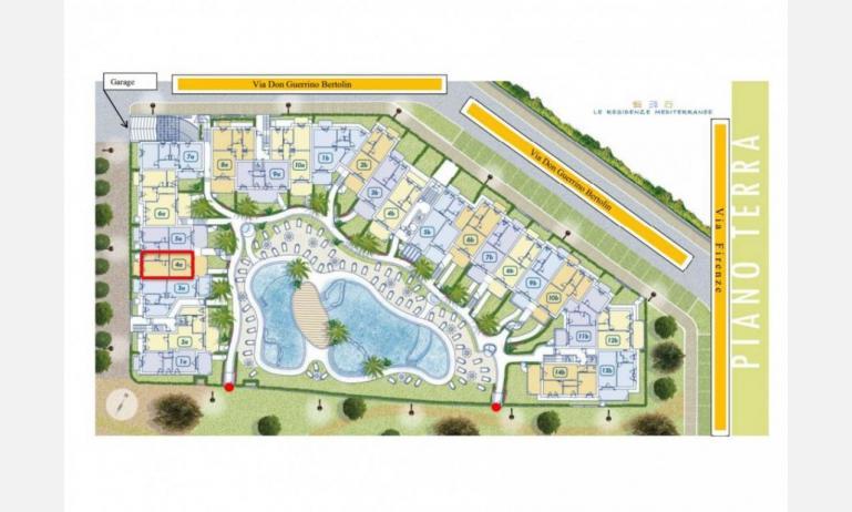 Residence MEDITERRANEE: Planimetrie Erdgeschoß