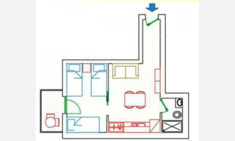 residence KATJA: A4/M - planimetry