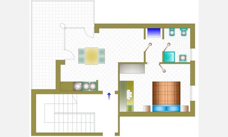 residence NUOVO SILE: B4 - planimetria primo piano
