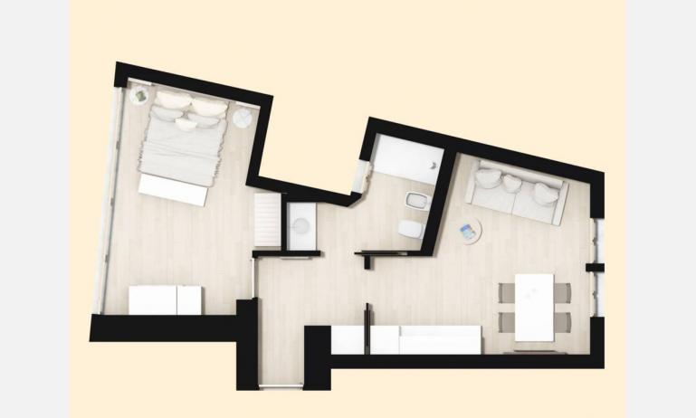 aparthotel TOURING: BB view - planimetria