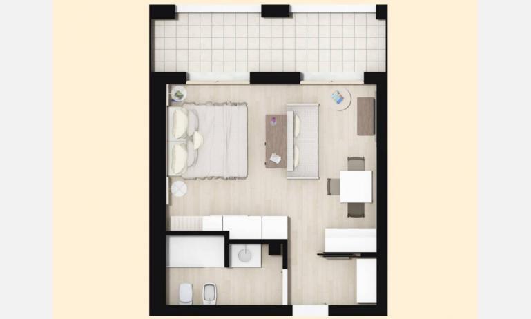 aparthotel TOURING: A - planimetria